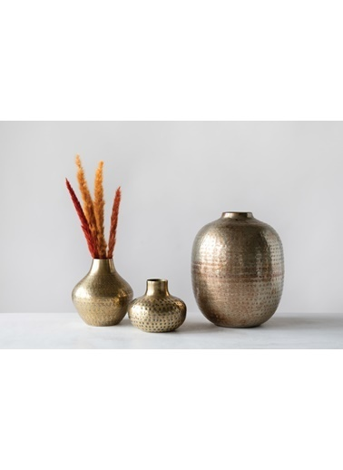 Warm Design Metal Antik Vazo Renkli